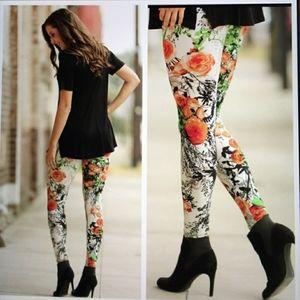 🆕️ Infinity Raine• floral leggings•NWT •fits 2-12